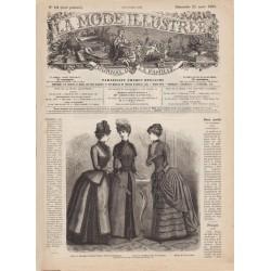 журнал мода La Mode Illustrée 1885 N°12