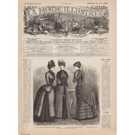 Complete magazine La Mode Illustrée 1885 N°12