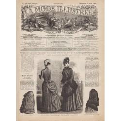 журнал мода La Mode Illustrée 1885 N°14