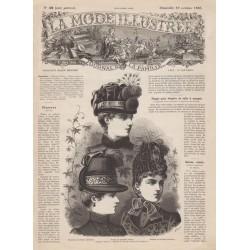 журнал мода La Mode Illustrée 1885 N°42