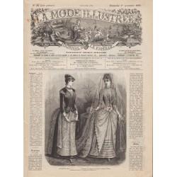 журнал мода La Mode Illustrée 1885 N°44