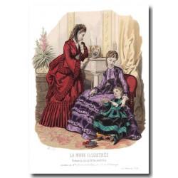 Gravure La Mode Illustrée 1870 48