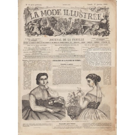 Complete magazine La Mode Illustrée 1866 N°01