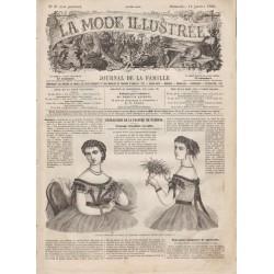 Complete magazine La Mode Illustrée 1866 N°03