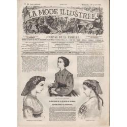 журнал мода La Mode Illustrée 1866 N°14