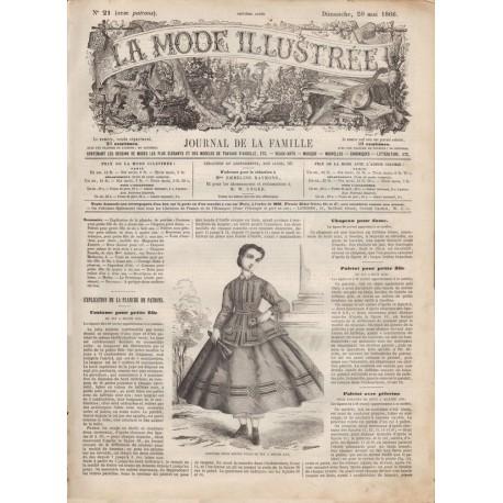 журнал мода La Mode Illustrée 1866 N°21