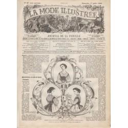 Complete magazine La Mode Illustrée 1866 N°27