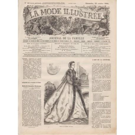 Complete magazine La Mode Illustrée 1866 N°44