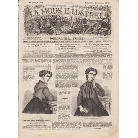 Complete magazine La Mode Illustrée 1866 N°49