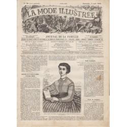 журнал мода La Mode Illustrée 1866 N°32