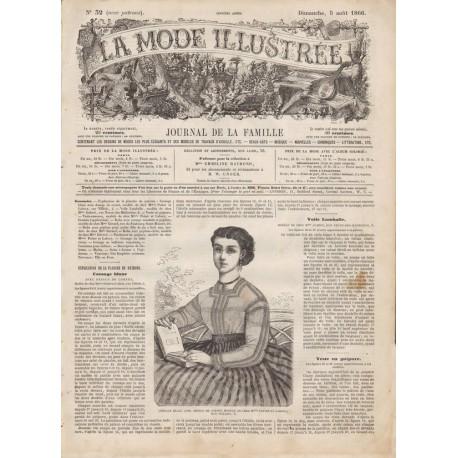 Complete magazine La Mode Illustrée 1866 N°32