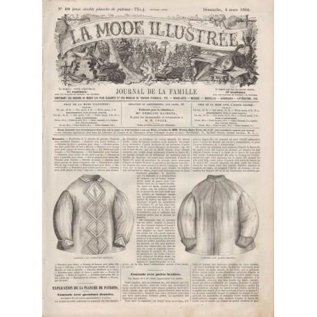 Complete magazine La Mode Illustrée 1866 N°10