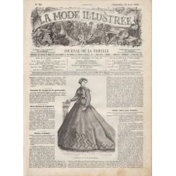 журнал мода La Mode Illustrée 1866 N°33