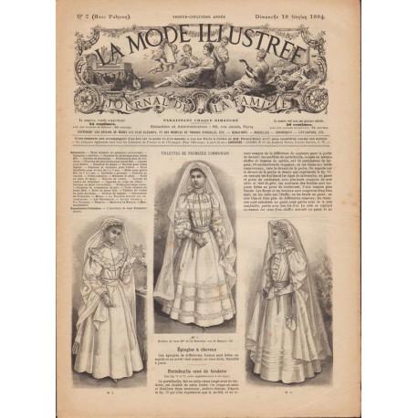 журнал мода La Mode Illustrée 1894 N°7