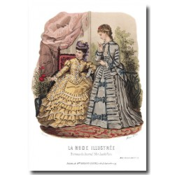 Gravure La Mode Illustrée 1873 22