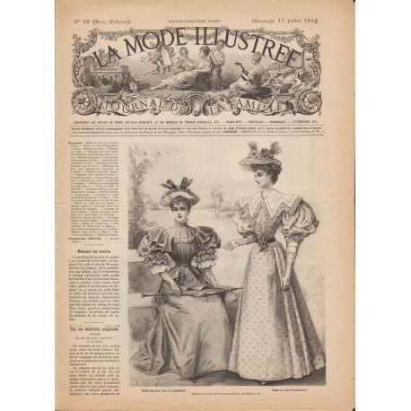журнал мода La Mode Illustrée 1894 N°28