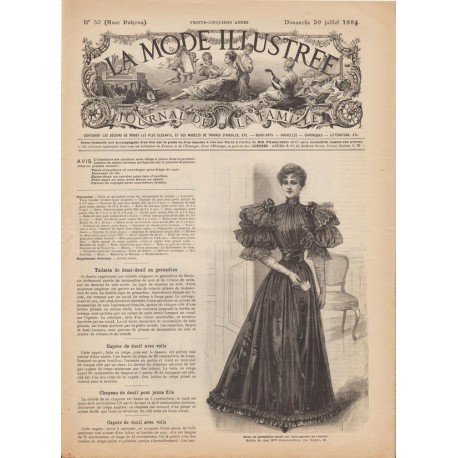 Complete magazine La Mode Illustrée 1894 N°30