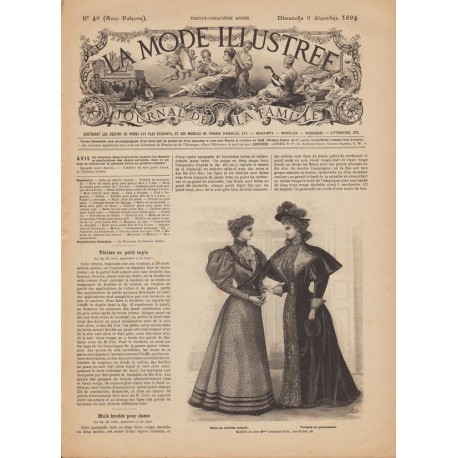 журнал мода La Mode Illustrée 1894 N°49