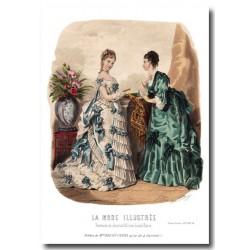 Gravure La Mode Illustrée 1873 24