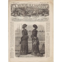 журнал мода La Mode Illustrée 1882 N°10