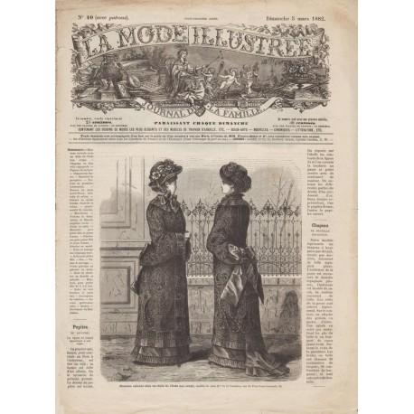 Complete magazine La Mode Illustrée 1882 N°10