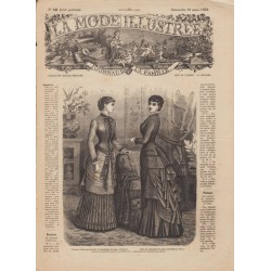 журнал мода La Mode Illustrée 1882 N°12