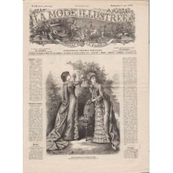 журнал мода La Mode Illustrée 1882 N°19