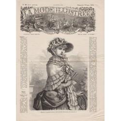 журнал мода La Mode Illustrée 1882 N°25