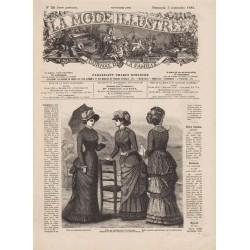 журнал мода La Mode Illustrée 1882 N°36