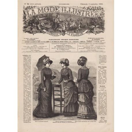 Complete magazine La Mode Illustrée 1882 N°36
