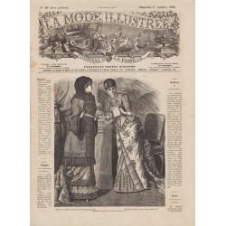 журнал мода La Mode Illustrée 1882 N°40