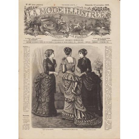 Complete magazine La Mode Illustrée 1882 N°47