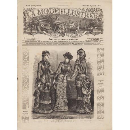 Revue La Mode Illustrée 1882 N°28