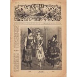 журнал мода La Mode Illustrée 1892 N°01