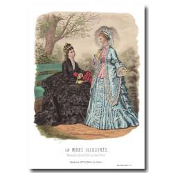Gravure La Mode Illustrée 1873 27