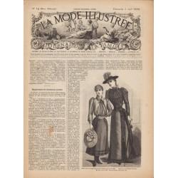 журнал мода La Mode Illustrée 1892 N°14