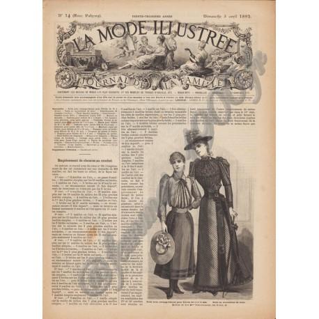 Complete magazine La Mode Illustrée 1892 N°14