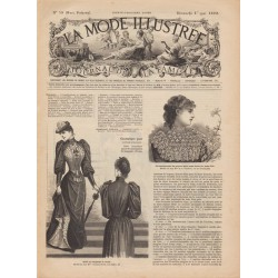 журнал мода La Mode Illustrée 1892 N°18