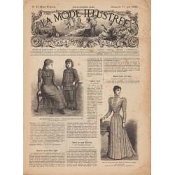 журнал мода La Mode Illustrée 1892 N°20