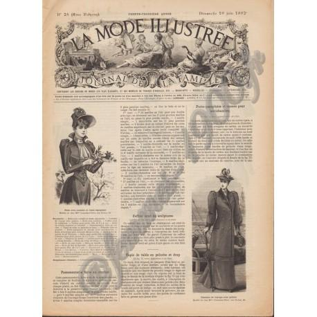 Revue complète de La Mode Illustrée 1892 N°25