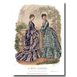 Gravure La Mode Illustrée 1873 29