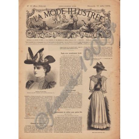 Revue complète de La Mode Illustrée 1892 N°29