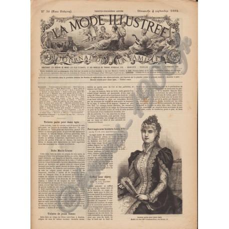 Complete magazine La Mode Illustrée 1892 N°36