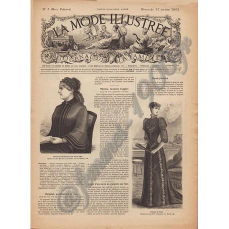 Revue complète de La Mode Illustrée 1892 N°03