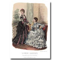 Gravure La Mode Illustrée 1873 34
