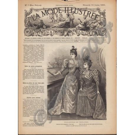 Complete magazine La Mode Illustrée 1893 N°7