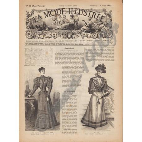 Complete magazine La Mode Illustrée 1893 N°12