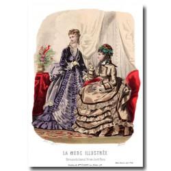 Gravure La Mode Illustrée 1873 41