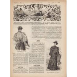 журнал мода La Mode Illustrée 1893 N°27