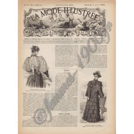 Complete magazine La Mode Illustrée 1893 N°27